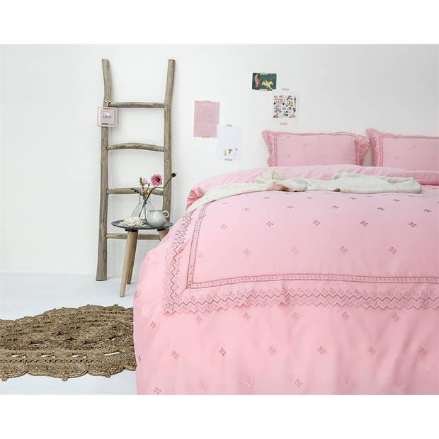 Fancy embroidery rl 12 pink - dekbedovertrek: 1-persoons (140 cm)