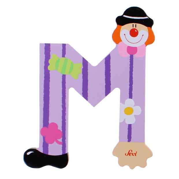 Sevi letter M clown 10 cm paars
