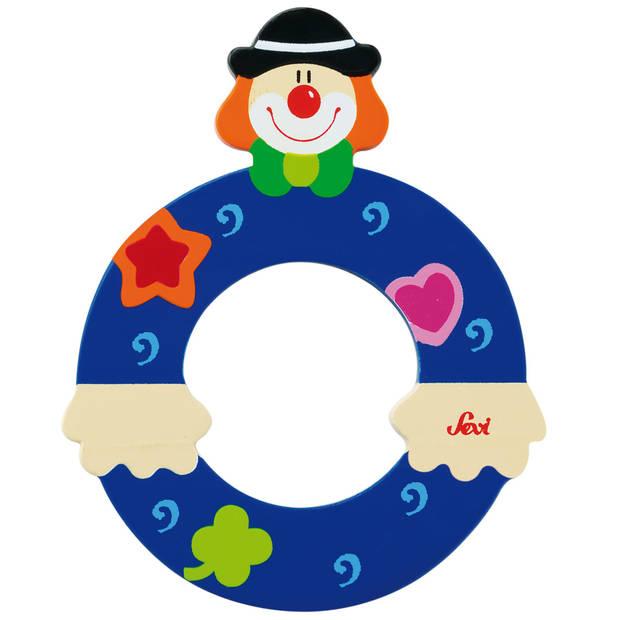 Sevi Letter O Clown blauw 10 cm