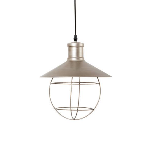 Clayre & eef hanglamp ø 27x31 cm e27/60w - zilver - ijzer