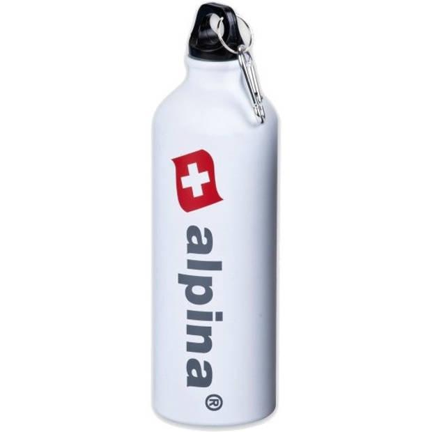 Alpina drinkfles 750 ml aluminium wit