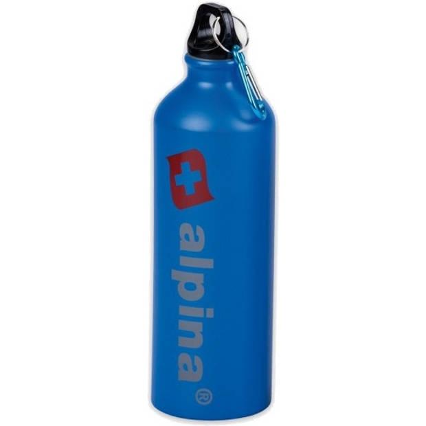 Alpina drinkfles 750 ml aluminium blauw