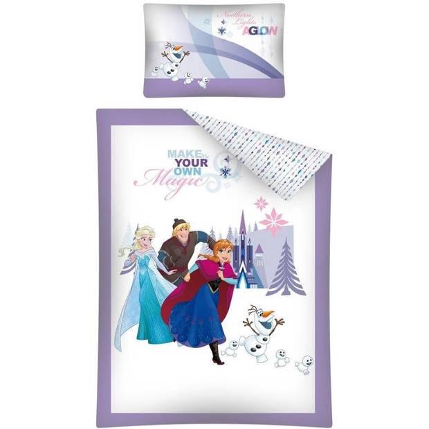 Disney dekbedovertrek Frozen 100 x 135 cm wit/paars