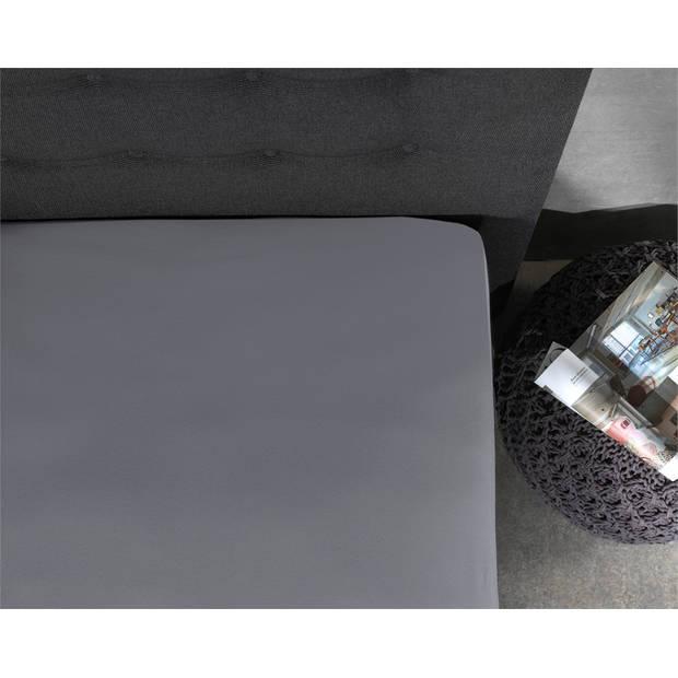 Home care jersey topper hoeslaken grey - 2-persoons (160 cm) - grijs