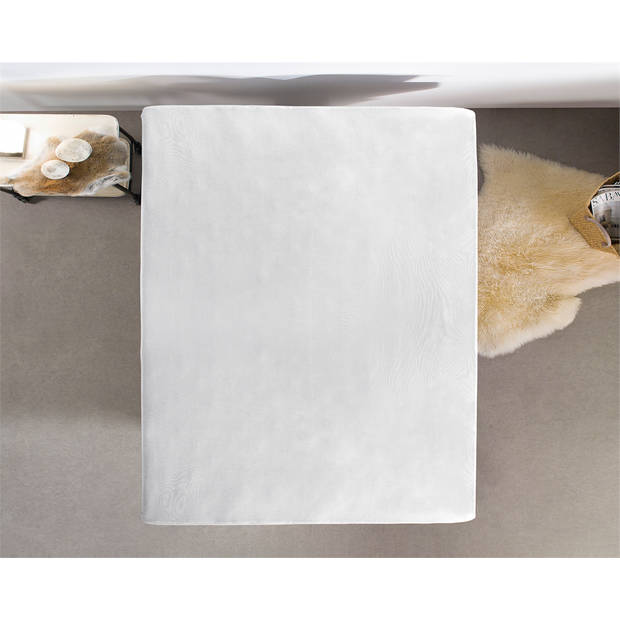 Home care jersey topper hoeslaken white - 2-persoons (200 cm) - wit