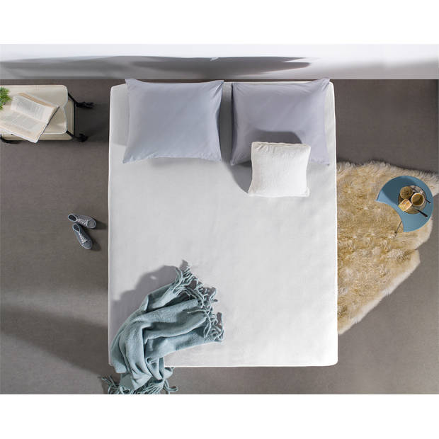 Home care jersey topper hoeslaken white - 2-persoons (180 cm) - wit