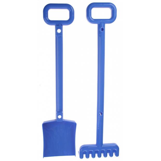 Écoiffier schep en hark 52 cm blauw