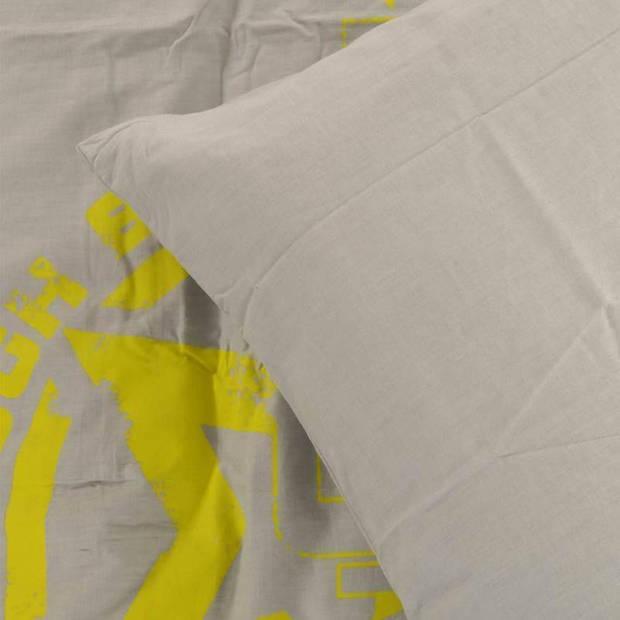 Briljant Jim & Imke dekbedovertrek - Katoen - Peuter (120x150 cm) + 1 sloop (60x70 cm) - Lime