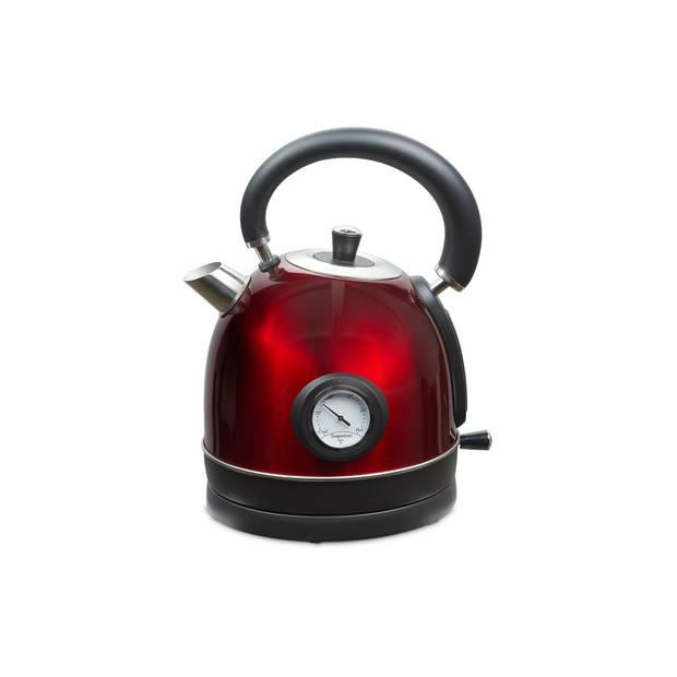 MOA Waterkoker Retro Rood 1.8 liter - Elektrisch - RVS - EK3TR