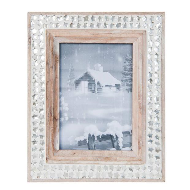 Clayre & eef fotolijst 22x27 cm / 13x18 cm - zilver - hout