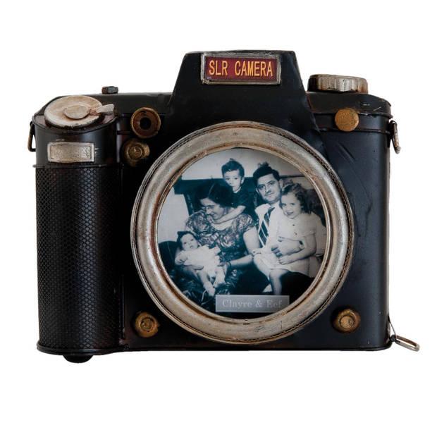 Clayre & eef fotolijst 18x4x15 cm / 11x11 cm - bruin, zwart - metaal
