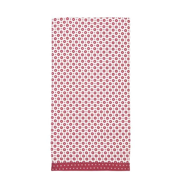 Clayre & eef servetten (6) 40x40 cm spl - wit, rood - katoen, 100% katoen, metaal