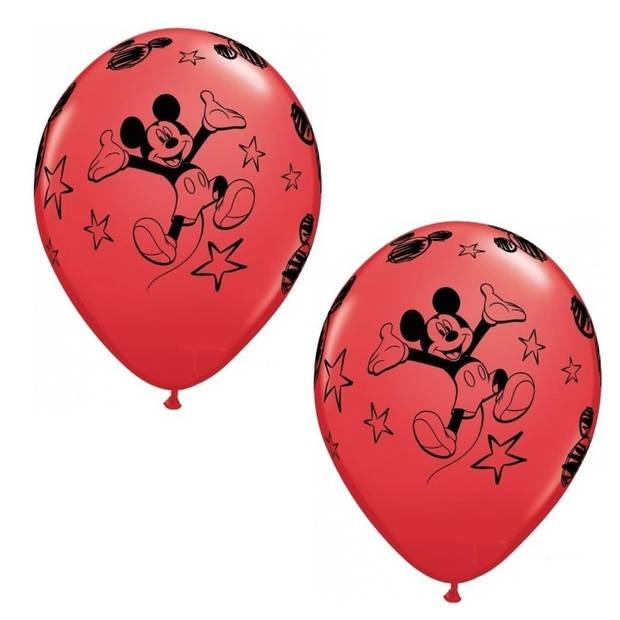 6x stuks Mickey Mouse thema party ballonnen - Kinderfeestjes feestartikelen versieringen