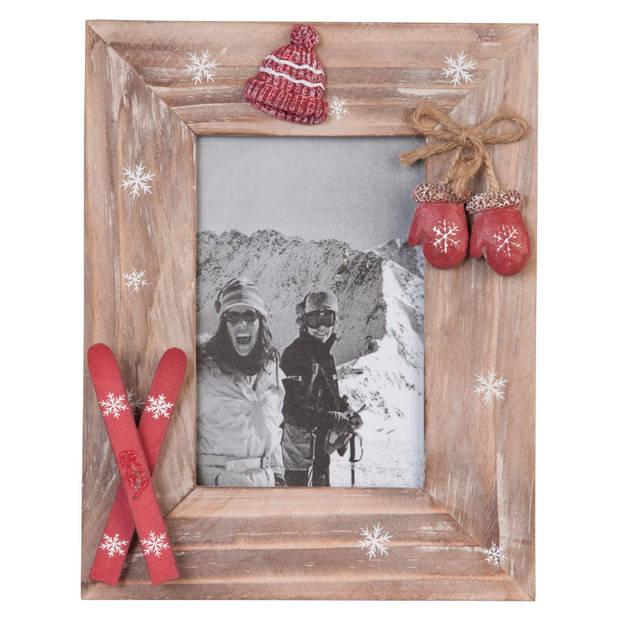 Clayre & eef fotolijst 18x23 cm / 10x15 cm - bruin - hout