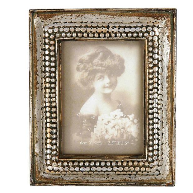 Clayre & eef fotolijst 10x13 cm / 6x9 cm - grijs, bruin - kunststof