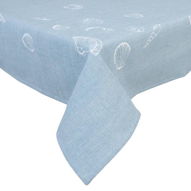 Clayre & eef tafelkleed 150x250 cm - blauw - katoen, 100% katoen