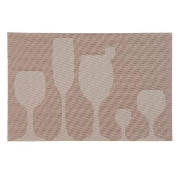 Clayre & eef placemat (6) 30x45 cm - beige - kunststof