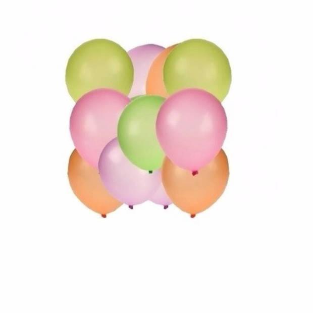 Neon ballonnen 50 stuks