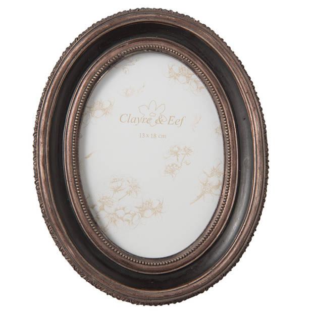 Clayre & eef fotolijst 19x2x24 cm / (13x18 cm) - bruin, zwart - kunststof