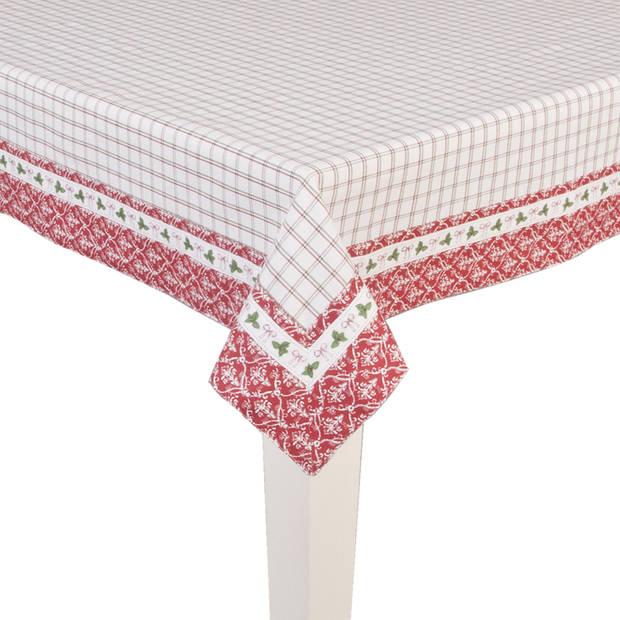 Clayre & eef tafelkleed 130x180 cm - rood - katoen, 100% katoen