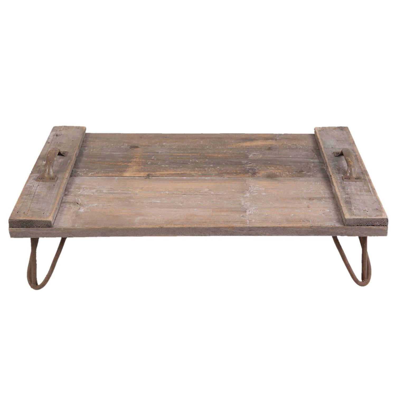 Clayre & eef dienblad 56x38x16 cm - bruin - hout