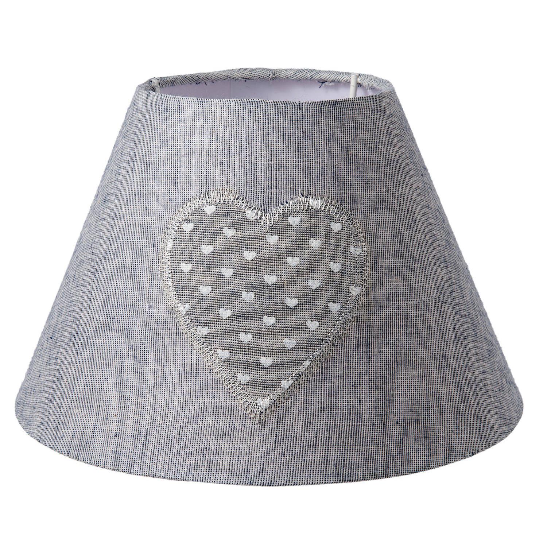 Clayre & eef lampenkap ø 22x14 cm - grijs - katoen