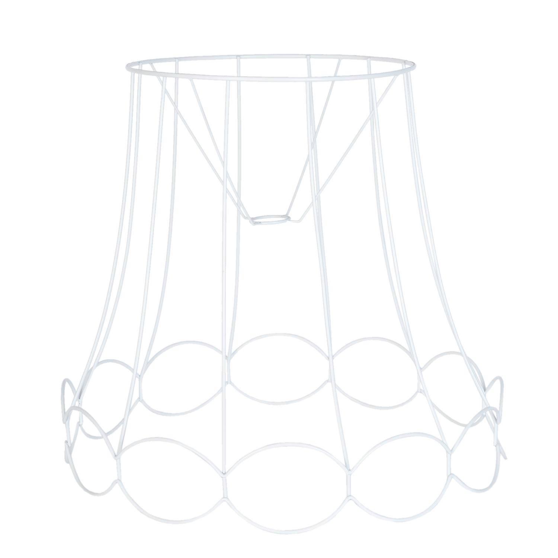 Clayre & eef lampenkap hang ø 50x46 cm - wit - ijzer