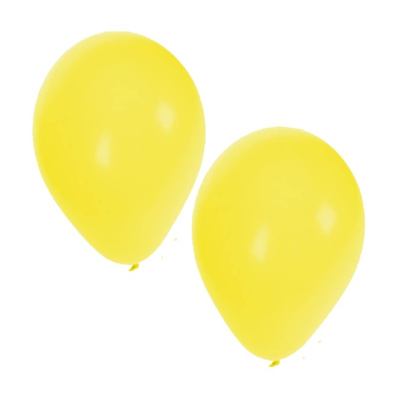Korting 25x Stuks Gele Party Ballonnen Van 27 Cm Ballonnen