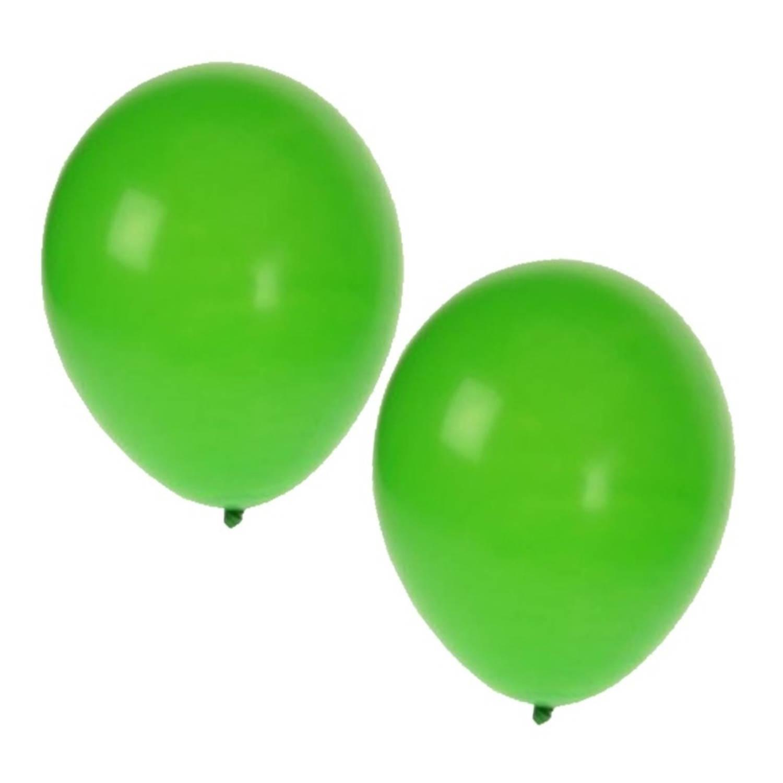 Korting 25x Stuks Groene Party Ballonnen Van 27 Cm Ballonnen