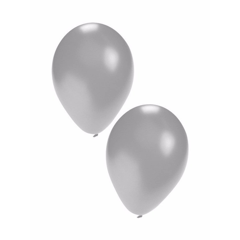 Korting Zilveren Ballonnen 10 Stuks