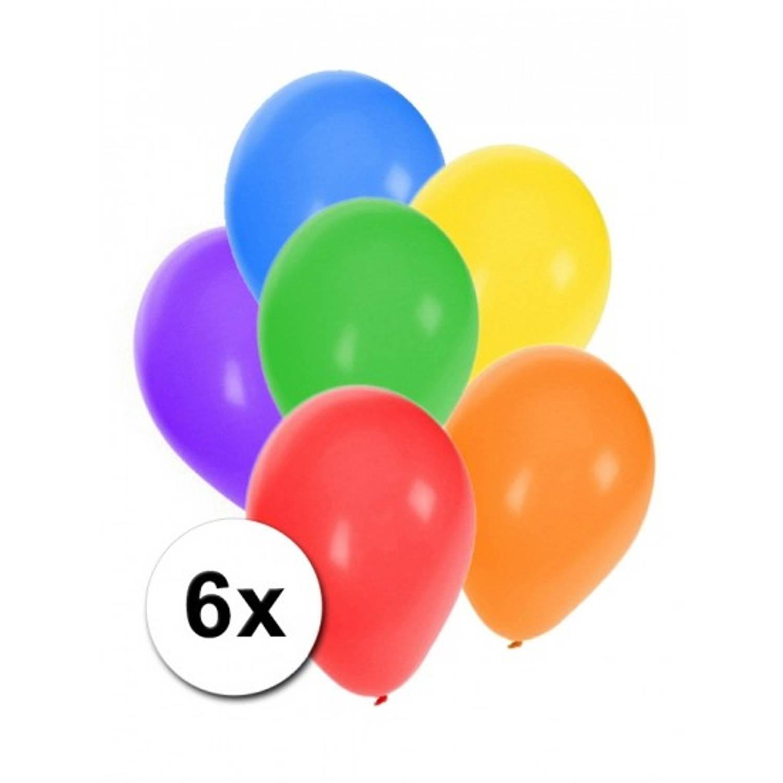 Korting Gekleurde Ballonnen 6 Stuks