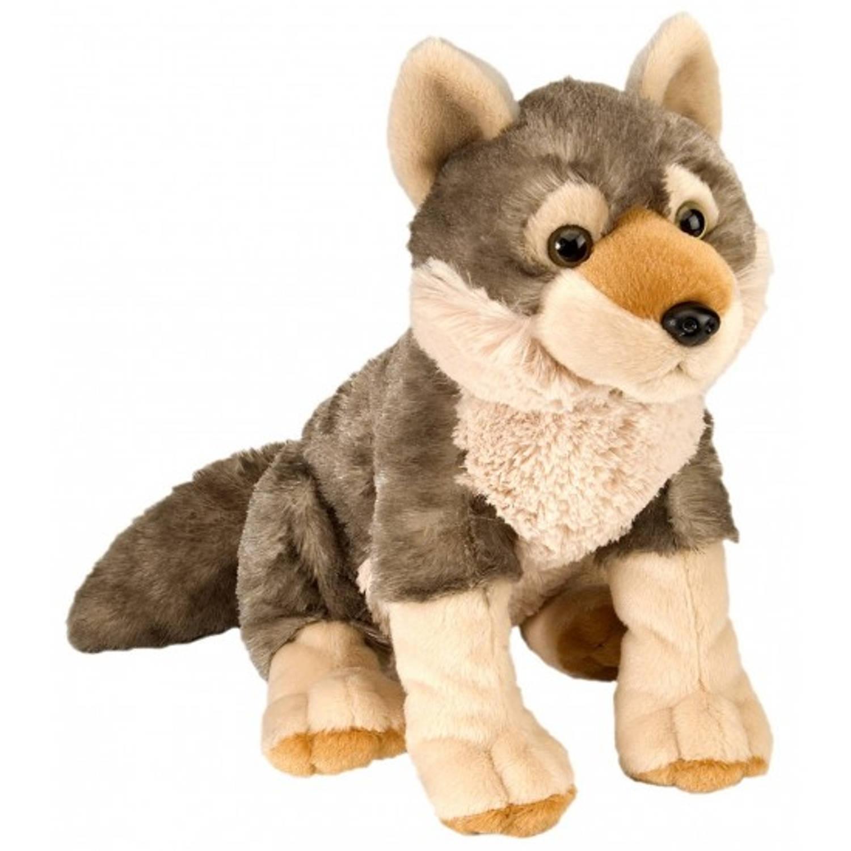 Pluche knuffel wolf 30 cm