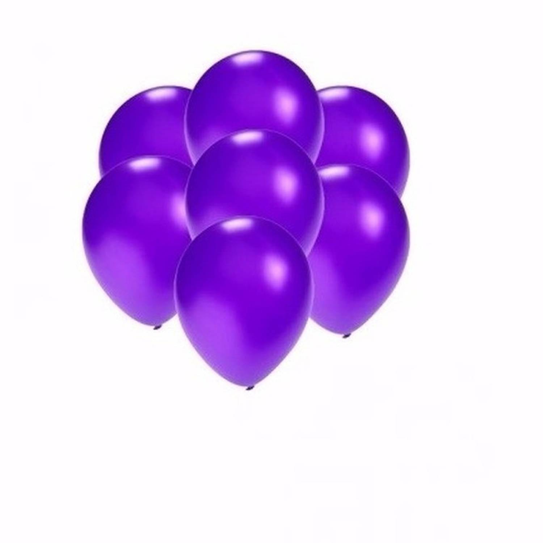 Korting Kleine Metallic Paarse Ballonnen 25 Stuks