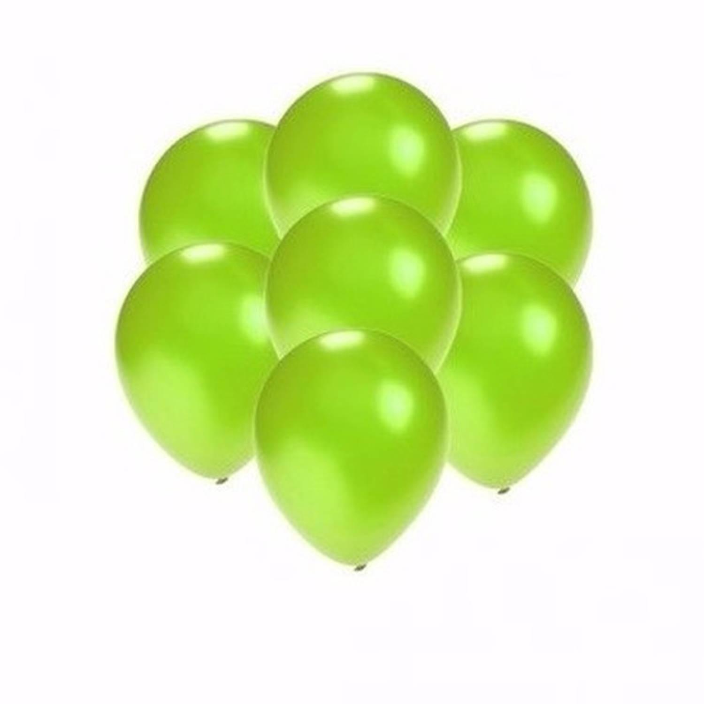 Korting Kleine Metallic Groene Ballonnen 10 Stuks