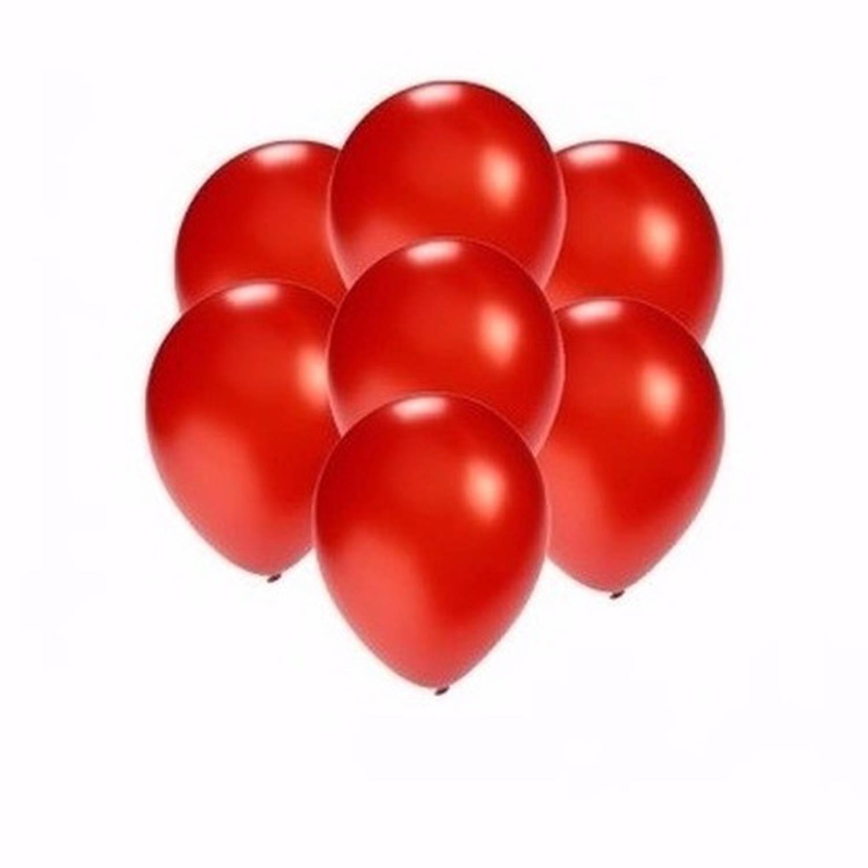Korting Kleine Metallic Rode Ballonnen 10 Stuks