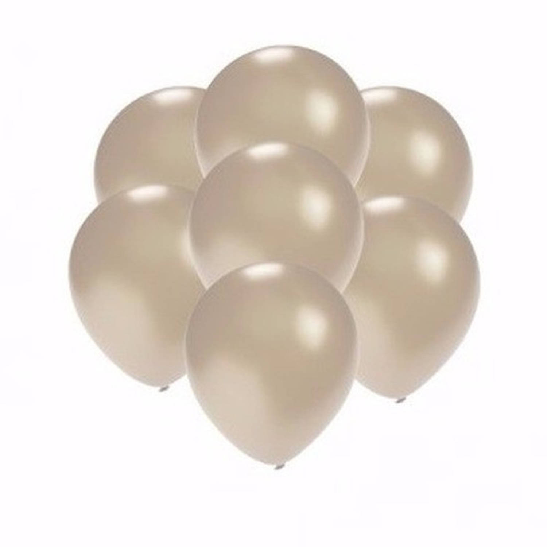 Korting Kleine Metallic Zilveren Ballonnen 15 Stuks