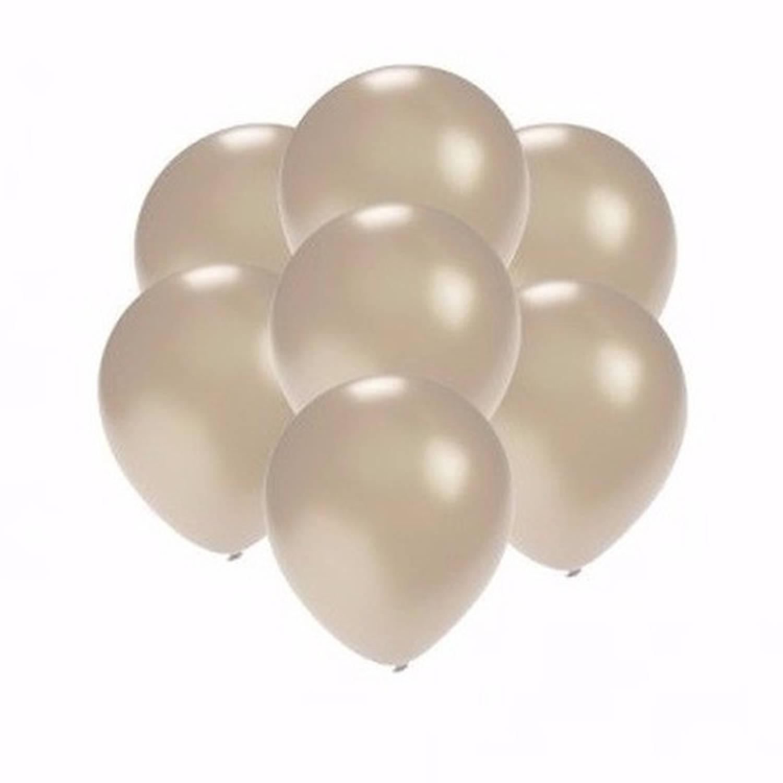 Korting Kleine Metallic Zilveren Ballonnen 10 Stuks