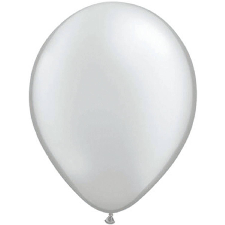 Korting 25x Stuks Metallic Zilveren Ballonnen Ballonnen