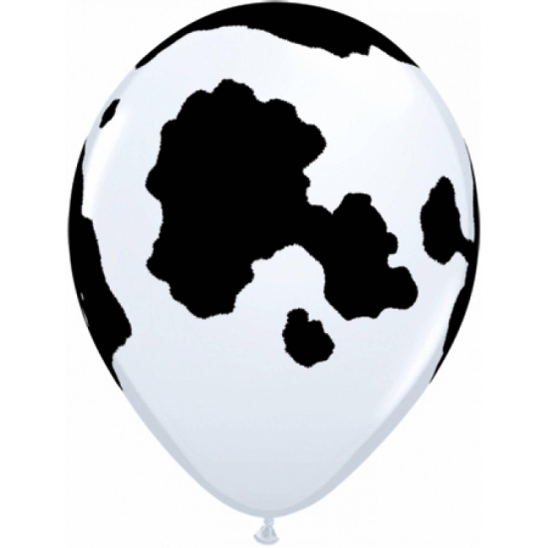 Korting Ballon Met Koeien Print 28 Cm