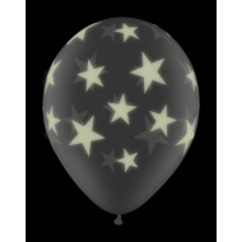 Korting Glow In The Dark Ballon Sterren 28 Cm