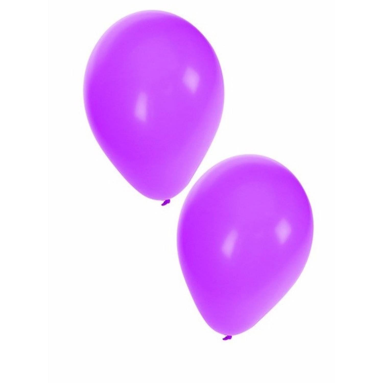 Korting 15x Paarse Ballonnen 27 Cm Ballon Paars Voor Lucht Of Helium