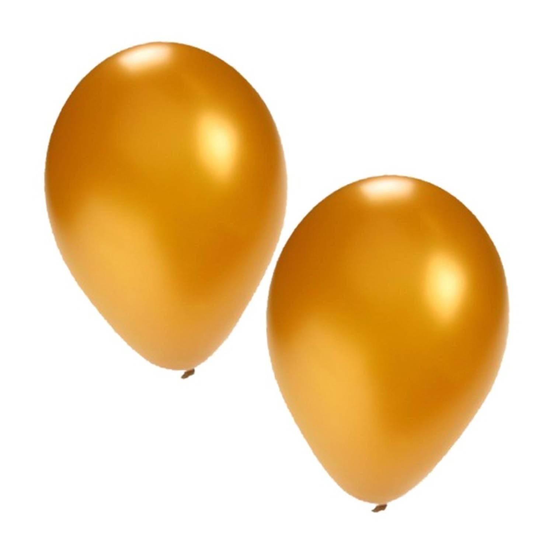 Korting 15x Stuks Gouden Ballonnen Formaat 27 Cm Ballonnen Goud Voor Lucht Of Helium