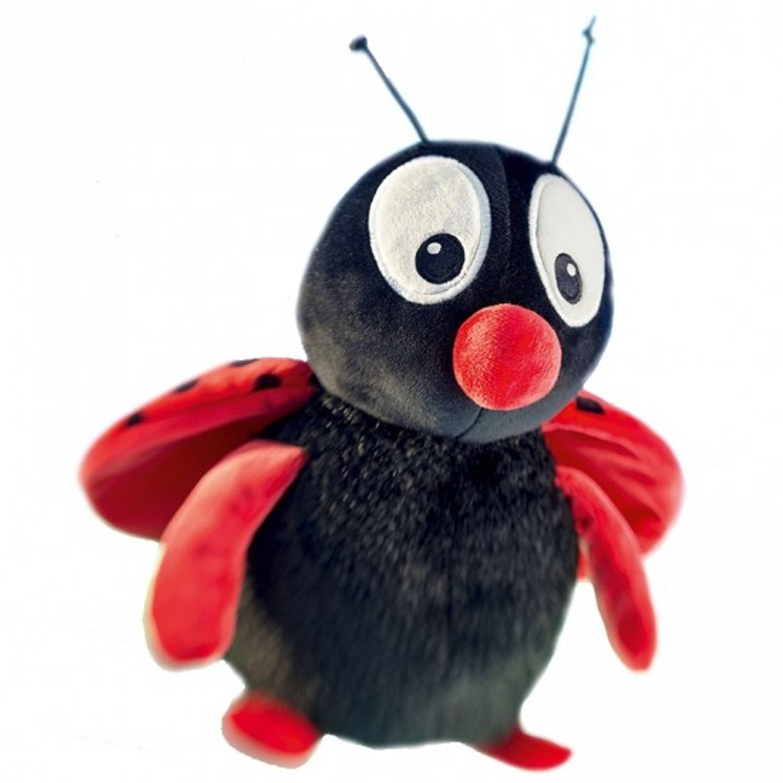 Pluche lieveheersbeestje buggy knuffel 18 cm