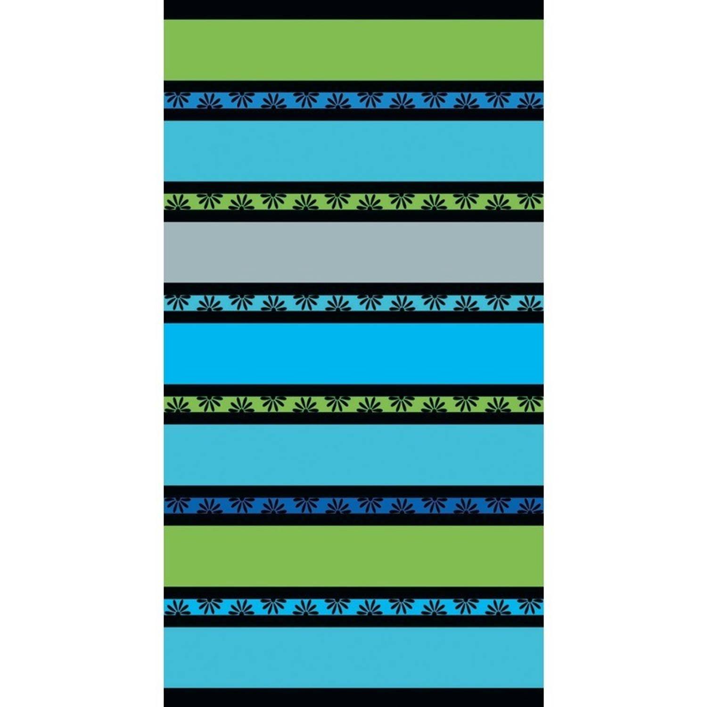 7fd464e491f Strandlaken daisy green 86 x 160 cm. vrolijk gekleurd strandlaken met  strepen voor tieners.