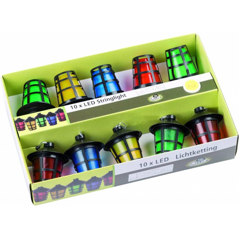 Party Lighting Feestverlichting met 10 gekleurde LED Lampionnen (1,65M)(Batterij)