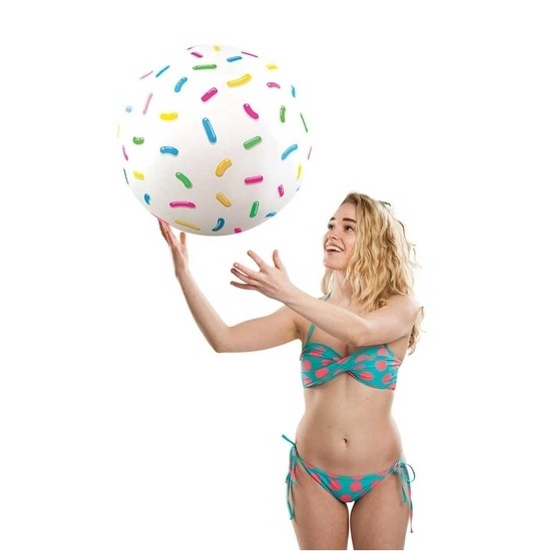 Grote strandbal met spikkels 46 cm