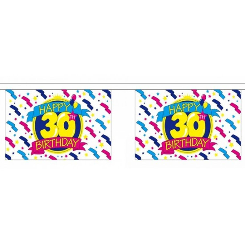 Luxe Vlaggenlijn 30e Verjaardag 9 Meter Blokker