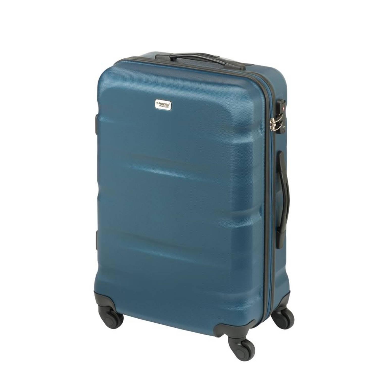 Korting Princess Traveller Los Angeles ABS koffer M Dark blue
