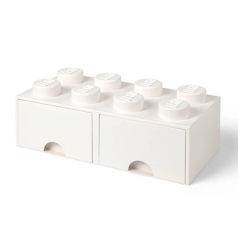 LEGO Brick 8 opberglade - wit