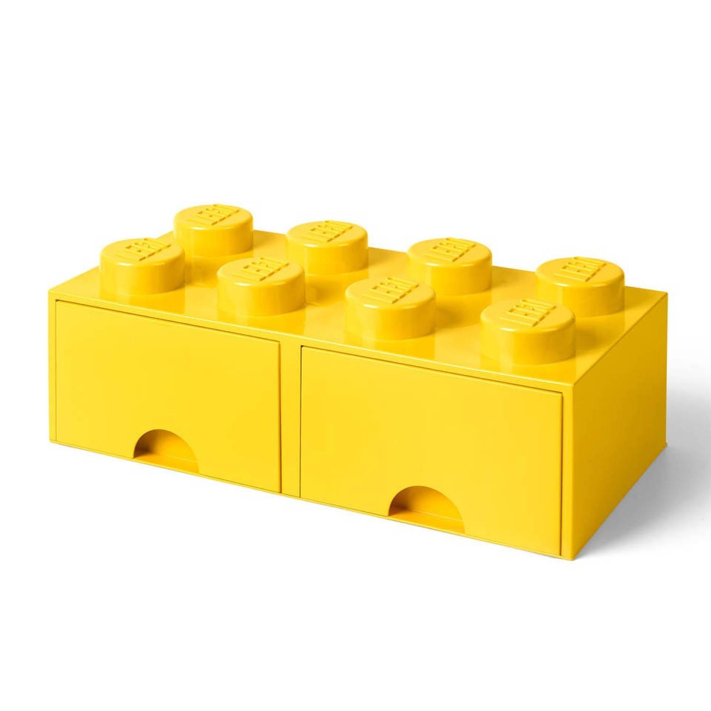 LEGO Brick 8 opberglade - geel